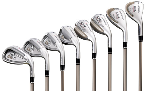 Adams golf introduces break through a2 os women's 7-piece set