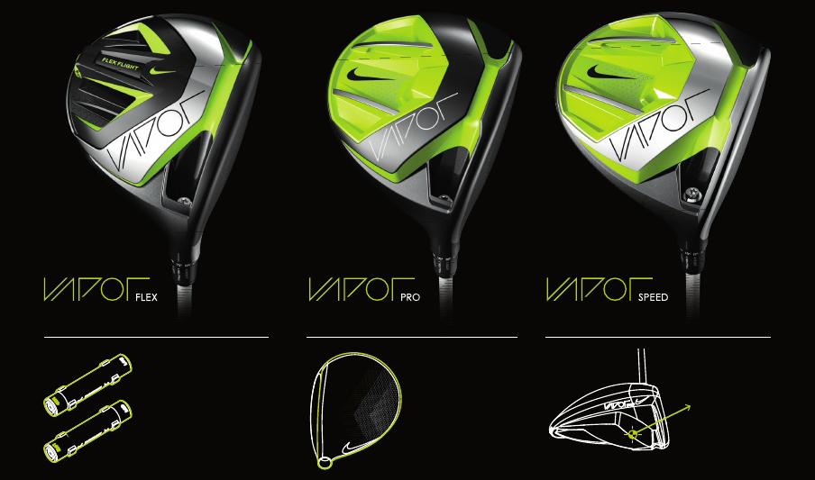 Nike golf adds motorists, hybrids to new vapor line